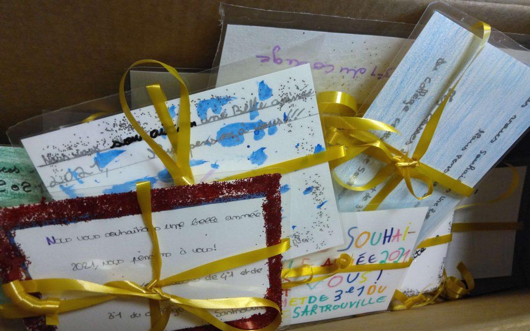Les élèves Sartrouvillois enchantent le Noël des bénéficiaires